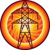 Power line symbol — Stock Vector