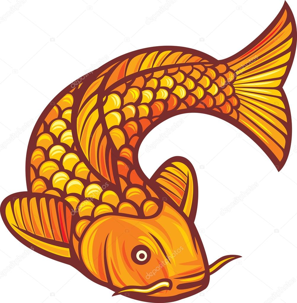 chinese carp fish drawing Koi Fish Yin Yang Fish