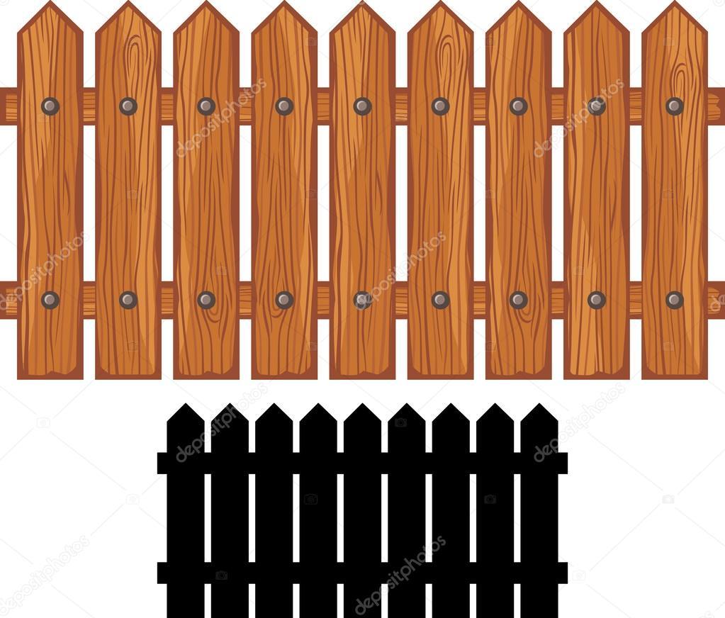 Reja de madera vector de stock 26765301 depositphotos for Cerco illustratore