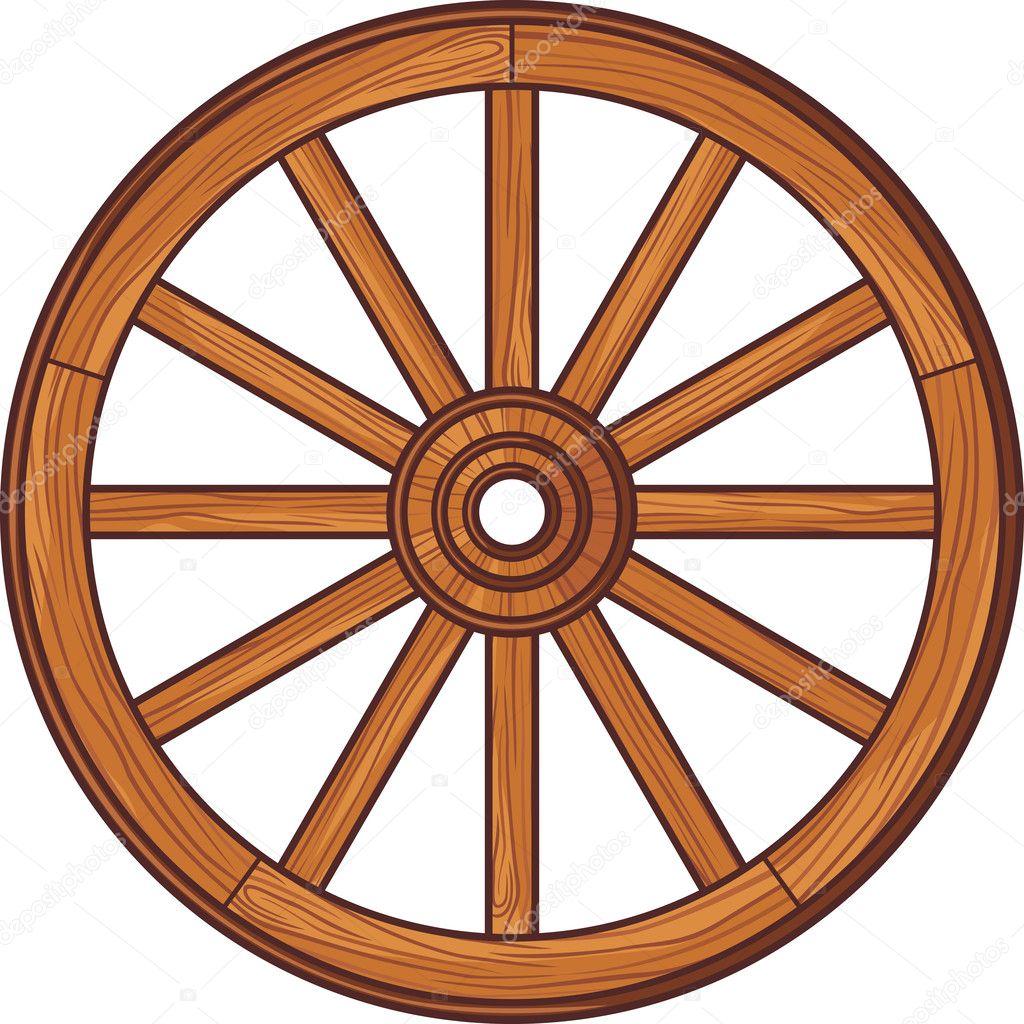 Roda de madeira velha — Vetor de Stock © Tribaliumivanka #26765321 #A04E2B 1024x1024