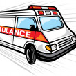 Stock Vector: Ambulance van