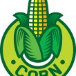 Corn label (corn symbol, corn sign, corn badge) — Stock Vector