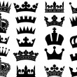 Crown collection (crown set, silhouette crown set) — Stock Vector #26877095