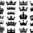 Crown collection (crown set, silhouette crown set) — Stok Vektör #26877095