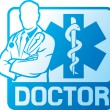 Stock Vector: Medical doctor symbol