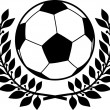 Football ball and laurel wreath — ベクター素材ストック