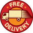 Free delivery truck — Stock Vector