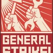 General strike poster — Stock Vector