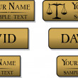 Engraved metal name badges — Stock Vector