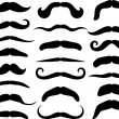 Set of mustache — Stock Vector