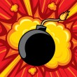 Old bomb starting to explode — Image vectorielle
