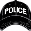 Police baseball cap — Stock Vector