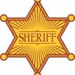 Stock Vector: Vector sheriff's star