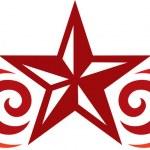 Tattoo star design — Stock Vector