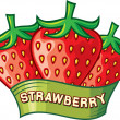 Strawberry label design — Stock Vector