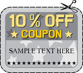 Coupon sale - 10 percent. — Stock Vector