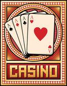 Projekt etykiety kasyno — Wektor stockowy