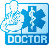 Medical doctor symbol — Stock Vector