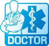 Medical doctor symbol — Stock Vector