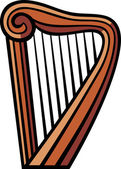 Harp Vector — Stock Vector