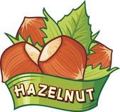 Hazelnut label — Stock Vector