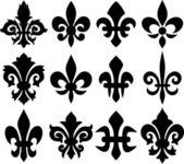 Lilienblume - heraldische symbol fleur de lis — Stockvektor