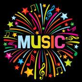 Music firework — Stock Vector