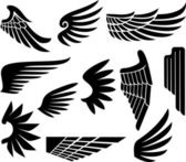 Wings collection ( — Stockvector