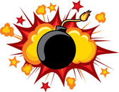 Old bomb starting to explode — Stock Vector
