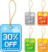 Price tags set — Stock Vector