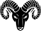 Head of the ram — Stock Vector