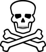 Skull and bones — Stock Vector