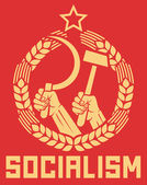 Socialism poster — Stock Vector
