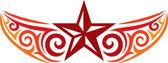 Diseño del tatuaje de la estrella — Vector de stock