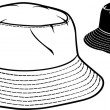 Bucket hat collection (bucket hat set) — Stock Vector