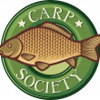Carp society symbol — Stock Vector