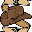 Stock Vector: Cowboy hat design
