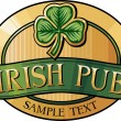 Stock Vector: Irish pub label design