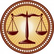 Vector de stock : Scales of justice