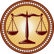 Stock Vector: Scales of justice