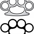 Stock Vector: Brass knuckles