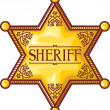 Vector sheriff's star (sheriff badge, sheriff shield) — Stok Vektör #26979699