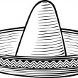 Stock Vector: Sombrero (mexichat)