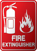 Fire extinguisher sign (fire extinguisher symbol, label) — Stock Vector