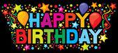 Zadowolony urodziny 18 — Wektor stockowy