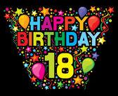 Happy birthday 18 — Wektor stockowy