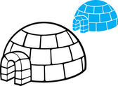 Illustration of a igloo — Stock Vector