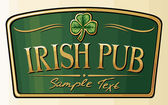 Irish pub label design — Stock Vector