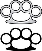 Brass knuckles — Stock Vector