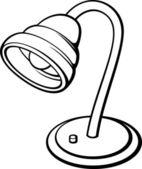 Silver desk lamp (retro electric lamp) — Stock Vector